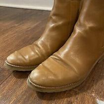 Stuart Weitzman Chelsea Camel/tan Basilico Leather Ankle Booties Women's Sz 8 Photo