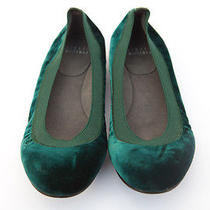 Stuart Weitzman Emerald Green Velvet Flats Size 6.5 Photo