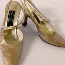 Stuart Weitzman Gold Holiday Shoes Size 6.5b Photo