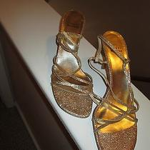 Stuart Weitzman Gold Shoes Photo