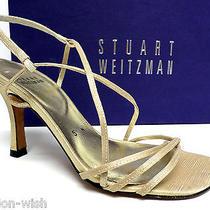 Stuart Weitzman Gold Size 5 Evening Sandals Heels or Shoes Photo