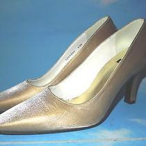 Stuart Weitzman Golden Satin Pumps Weddings Special Occasion Shoes  6.5 B Photo