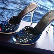 Stuart Weitzman High End Sandal Stilettos High Heels Blue and White Size 8.5  Photo
