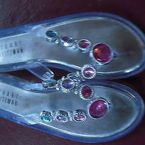 Stuart Weitzman Jeweled Sandals Size 3 Gently  Worn  Photo