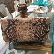 Stuart Weitzman Leather Python Embossed Zip Around Wallet  Photo