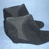 Stuart Weitzman Leisure Suede Stretch Ankle Wedge Booties Size 10 M   395  Photo