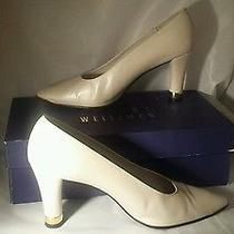 Stuart Weitzman Lincarol Bone Lustre Heels 7.5m Brand New 192.00 Like New  Photo