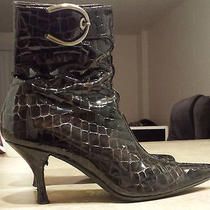 Stuart Weitzman Made in Spain Patter Leather Ankle Boots 7.5 Photo