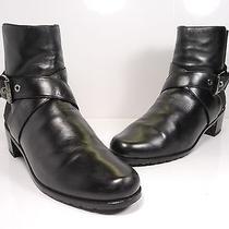 Stuart Weitzman Manlow Leather Ankle Boot Black Size 8 M Photo