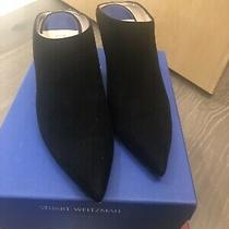 Stuart Weitzman Mira 75 Black Suede Mules Pointed Toe High-Heel Orig 455 Size40 Photo