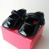 Stuart Weitzman My First Weitzmans Sz 2 Black Patent Baby Caviar Baby Shoes Photo
