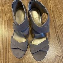 Stuart Weitzman Neutral Strappy Sandal Heels Size 8.5 M Photo
