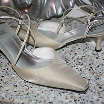 Stuart Weitzman Off White/sparkle Wore Once Wedding Shoes Heels Size 8 M Photo
