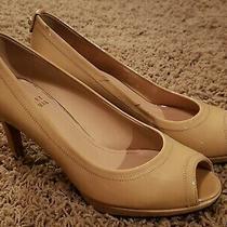 Stuart Weitzman Patent Leather Nude Beige Heels Size 5.5 Photo