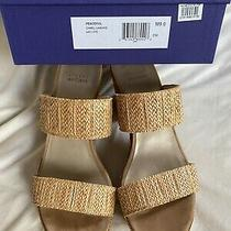 Stuart Weitzman Peaceful Raffia Sz9 Slip in Sandal Platform Nordstrom Msrp 395 Photo