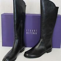 Stuart Weitzman Pentagon Boots Black Nappa Leather  Size 8.5 M Photo