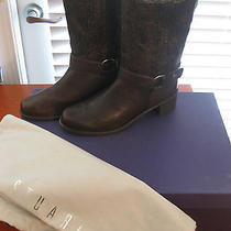 Stuart Weitzman Pimlico Womens Brown Lacquered Knit Mid Calf Boots Size 7 Photo