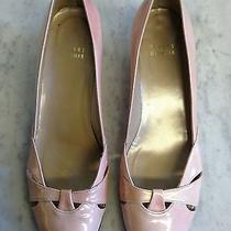 Stuart Weitzman Pink Leather Wedge Pumps Shoes Size 7.5 M Photo