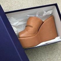 Stuart Weitzman Platform Slippers Size 6.5 Color Light Brown Photo