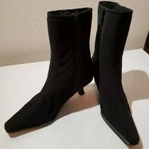 Stuart Weitzman Rapture Black Above Ankle Knit Heel Booties Size 8 Photo