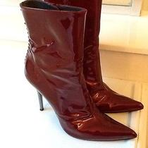 Stuart Weitzman Red Patent Leather Boots Size 9 -Retail 495 Photo