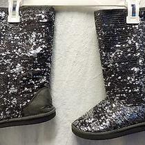 Stuart Weitzman Sequin Boots Girls Size 1 Photo