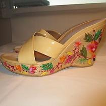Stuart Weitzman  Size 8  Embroidered Wedge Sandals  Photo