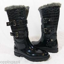 Stuart Weitzman Snowflake Black Boots  Water Resistant  Size 6  36  Photo