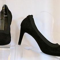 Stuart Weitzman Spain 8 M Womens Black Micro Suede Shoes Pumps 3
