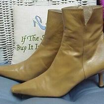 Stuart Weitzman Tan/beige Leather Ankle Boots/booties/heels Sz. 8 1/2 M Photo