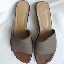 Stuart Weitzman Taupe Microfiber Sandal 10 M Spain Photo