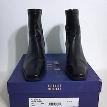 Stuart Weitzman Viale Black Nappa Leather Boots Size 6.5 M Like New Condition Photo