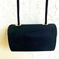 Stuart Weitzman Vintage Black Evening Bag Shoulder Bag Clutch Gold Accents Photo