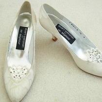 Stuart Weitzman White Wedding Pump Shoes Size 7.5 B Photo
