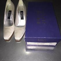 Stuart Weitzman White Wedding Shoes Size 6.5 Nwb Photo