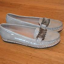 Stuart Weitzman Women's Sage Patent Leather Flats Driving Loafer (Sz 10)- 355  Photo