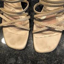 Stuart Weitzman Women's Strappy Sandal Size 10n Gold Great Condition Photo