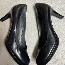 Stuart Weitzman Womens Black Leather Heels Dress Pumps Shoes Size Sz 8 Medium M  Photo