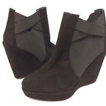 Stuart Weitzman Womens Black Suede Ankle Wedges Size 9.5m 535 (A29a) Photo