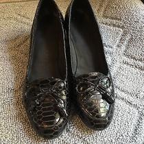 Stuart Weitzman Womens Size 5.5 Wedge Slip on Loafer Shoes Snake Skin Photo
