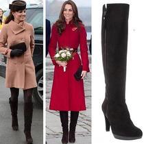 Stuart Weitzman Zipkinmid  Brown Suede Boots Aso Kate Middleton 8.5 M Photo