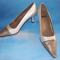 Stuart Weitzmn Beige Special Occasion Wedding Pumpsshoes Heels 6.5 B Euc Photo