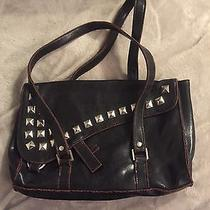 Studded Black Purse Faux Leather Bag Small Size Punk Rock Photo