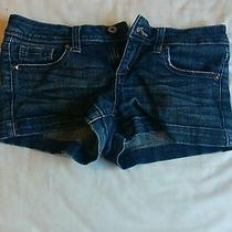 Studded Blue Jean Shorts Photo