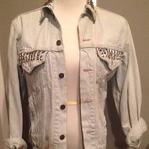 Studded Vintage Denim Jacket Photo