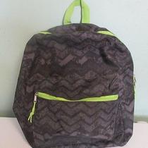 Student Size Backpack Book Bag Black Green  Photo