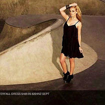 Studio Luxury Nwt 130 Sportsgirl Chloe Silk Waterfall Dress   Black    Photo