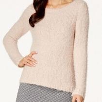 Studio M New Blush Pink Womens Size Medium M Fuzzy Scoop Neck Sweater 88 321 Photo