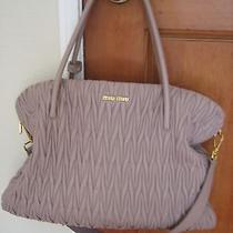 Stunning Authentic Miu Miu Prada Phard Blush Matelasse Large Bag Satchel Purse  Photo