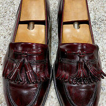 Stunning Bally Mens Burgundy Kiltie Tassel Loafer Leather Dress Shoes Sz 11 D Photo